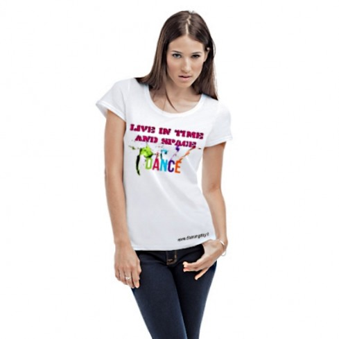 T-shirt femminile manica cortaLive in Time and Space DANCE